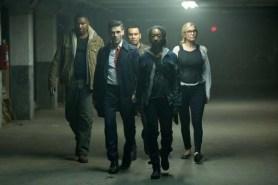 Edwin Hodge, Elizabeth Mitchell, Mykelti Williamson, Joseph Julian Soria, et Betty Gabriel dans American Nightmare 3: Élections (2016)