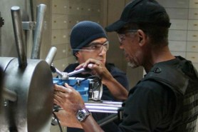 Antonio Banderas et Morgan Freeman dans The Code (2009)