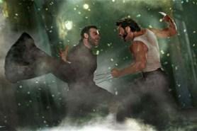 Liev Schreiber et Hugh Jackman dans X-Men Origins: Wolverine (2009)