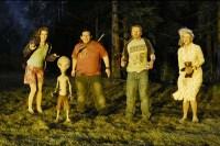 Blythe Danner, Nick Frost, Simon Pegg, et Kristen Wiig dans Paul (2011)
