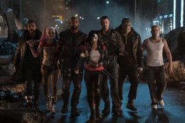 Will Smith, Adewale Akinnuoye-Agbaje, Jay Hernandez, Joel Kinnaman, Jai Courtney, Margot Robbie, et Karen Fukuhara dans Suicide Squad (2016)