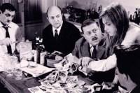 Lino Ventura, Bernard Blier et Francis Blanche dans Les Tontons Flingueurs (1963)