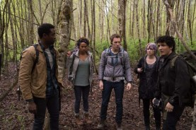 Wes Robinson, Brandon Scott, Valorie Curry, Corbin Reid, et James Allen McCune dans Blair Witch (2016)