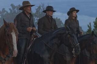 Harrison Ford, Daniel Craig, et Olivia Wilde dans Cowboys & Aliens (2011)