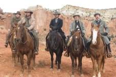 Russell Crowe, Christian Bale, Peter Fonda, Lennie Loftin, Alan Tudyk, et Dallas Roberts dans 3:10 to Yuma (2007)