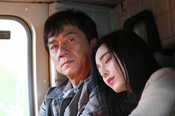Jackie Chan et Bingbing Fan dans La Filature (2016)