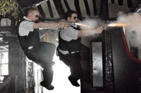Nick Frost et Simon Pegg dans Hot Fuzz (2007)