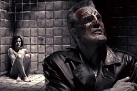 Mickey Rourke et Carla Gugino dans Sin City (2005)