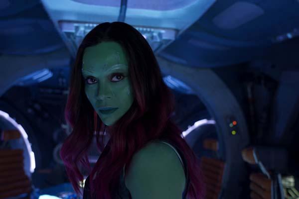 Zoe Saldana dans Les Gardiens de la Galaxie 2 (2017)