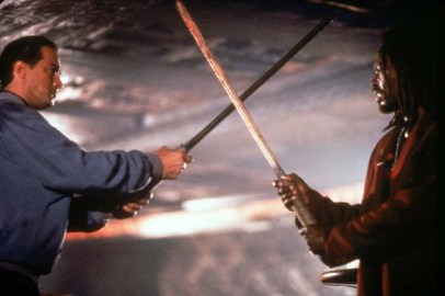 Steven Seagal et Basil Wallace dans Marked for Death (1990)