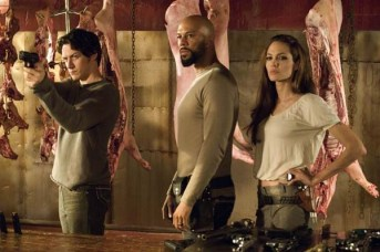 Angelina Jolie, James McAvoy, et Common dans Wanted (2008)