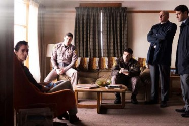 Ron Livingston, Benjamin Walker, Rob Corddry, Adam Pally, et Stephanie Sigman dans Shimmer Lake (2017)