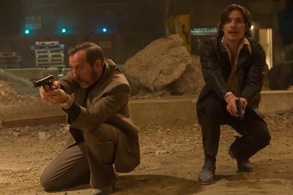 Cillian Murphy et Michael Smiley dans Free Fire (2016)