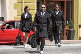 Jon Hamm, Jon Bernthal, Eiza González, et Ansel Elgort dans Baby Driver (2017)