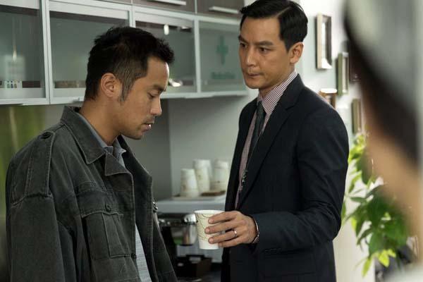 Daniel Wu et Joseph Chang dans Sky on Fire (2016)