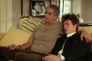 David Strathairn et Ansel Elgort dans November Criminals (2017)