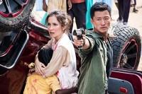 Wu Jing et Celina Jade dans Wolf Warrior 2 (2017)
