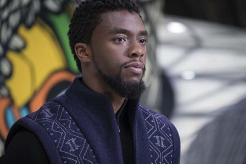 Chadwick Boseman dans Black Panther (2018)