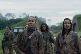 Natalie Portman, Jennifer Jason Leigh, Tuva Novotny, Gina Rodriguez, et Tessa Thompson dans Annihilation (2018)