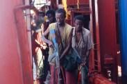 Barkhad Abdi, Barkhad Abdirahman, et Mahat M. Ali dans Captain Phillips (2013)