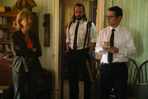 Lin Shaye, Angus Sampson, et Leigh Whannell dans Insidious: The Last Key (2018)