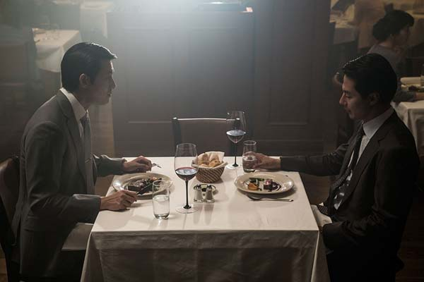 Jo In-sung et Jung Woo-sung dans The King (2017)