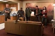 Thomas Jane, Keegan-Michael Key, Boyd Holbrook, Augusto Aguilera, et Trevante Rhodes dans The Predator (2018)