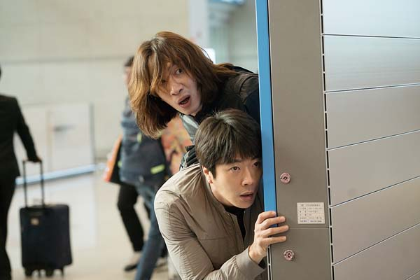 Lee Kwang-soo et Kwon Sang-woo dans The Accidental Detective 2: In Action (2018)