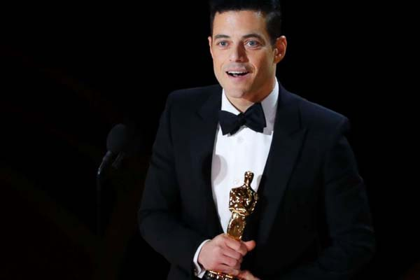 Rami Malek lors de la Cérémonie des Oscars (2019)