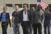 Idris Elba, Chris Evans, Jeffrey Dean Morgan, Zoe Saldana, Óscar Jaenada, et Columbus Short dans The Losers (2010)