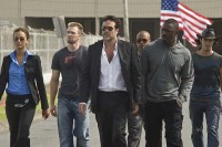 Idris Elba, Chris Evans, Jeffrey Dean Morgan, Zoe Saldana, Óscar Jaenada, et Columbus Short dans The Losers (2010)