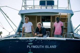 Matthew McConaughey, Djimon Hounsou, et Jason Clarke dans Serenity (2019)