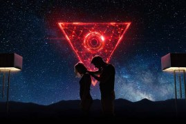 Ed Skrein et Maika Monroe dans Tau (2018)