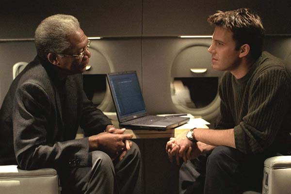 Morgan Freeman et Ben Affleck dans The Sum of All Fears (2002)