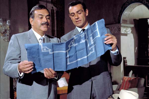 Sean Connery et Pedro Armendáriz dans From Russia with Love (1963)