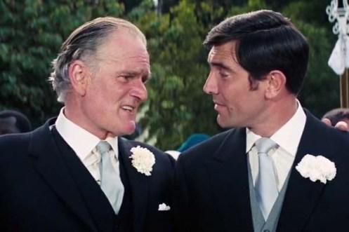 Desmond Llewelyn et George Lazenby dans On Her Majesty's Secret Service (1969)