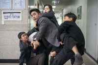Ryu Seung-ryong, Lee Hane, Lee Dong-hwi, Jin Seon-kyu et Gong Myung dans Extreme Job (2019)