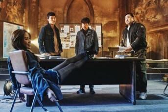 Kim Ah-joong, Jang Ki-yong, Kim Sang-joong et Ma Dong-seok dans The Bad Guys: Reign of Chaos (2019)